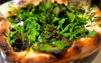 Spinach, goat cheese and herb pizza from ABC Kitchen
